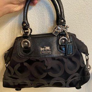Coach black adjustable hobo bag